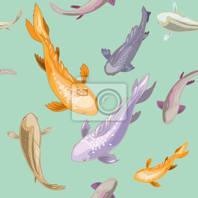 Bezszwowych tekstur z różnych ryb