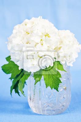 Naklejka białe kwiaty