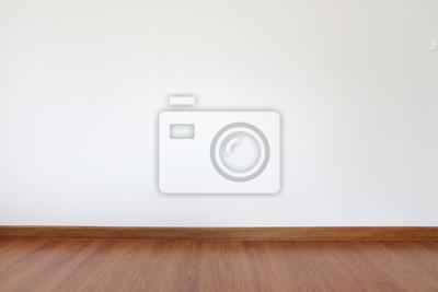 Naklejka białe ściany i podłogi z drewna zaprawy w pokoju