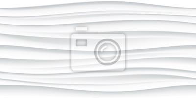 Naklejka Biały bez szwu fali wzór tekstury tła
