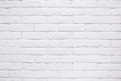Naklejka Biały ceglany mur w tle