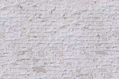 Naklejka Biały grunge ceglany mur w tle