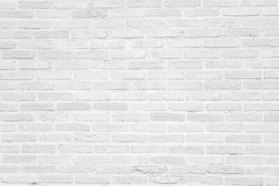 Naklejka Biały grunge tekstury tła ściany z cegły