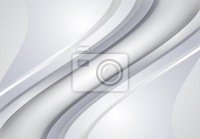 Biały i szary streszczenie łuk i faliste tło