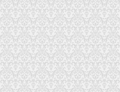 Naklejka biały kwiatowy wzór tapety