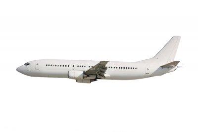 Naklejka Biały samolot