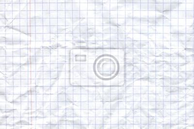 Naklejka Biały zmięty papier tekstury