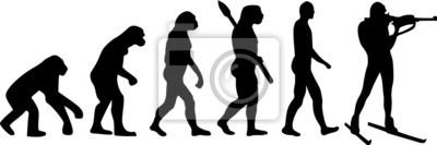 Naklejka Biathlon Evolution