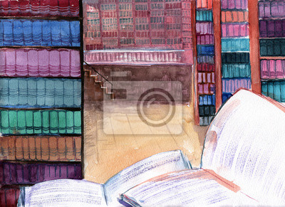 Naklejka biblioteka