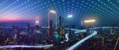 Naklejka Big data connection technology concept .