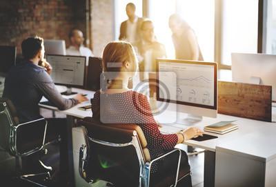 Naklejka Biznes Ludzie Analiza Myślenie finansowania wzrostu Success Concept