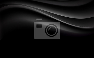 Black abstract curve and wavy illustration background