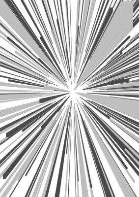 Naklejka Black and White comicbook stylu Blast lub Speedlines