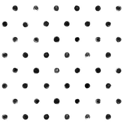 Naklejka Black and white  Polka Dot Seamless Pattern Paint Stain Abstract