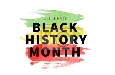 Naklejka Black History Month