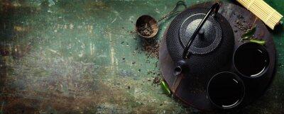 Naklejka Black iron asian tea set