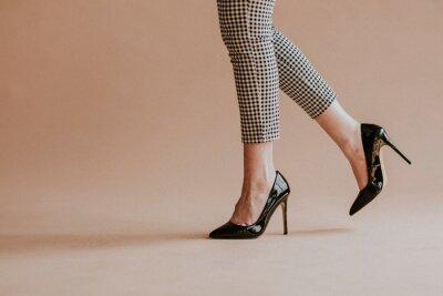 Naklejka Black patent leather heels