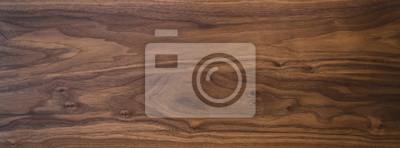 Naklejka Black walnut wood texture from two boards oil finished