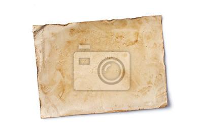 Naklejka Blank old yellowed paper mockup for vintage photo or postcard