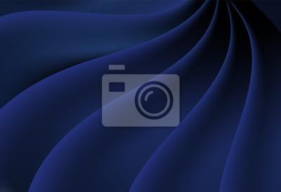 Błękitna abstrakt krzywa i falisty wektorowy tło