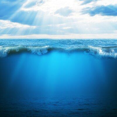 Naklejka Błękitny ocean i niebo