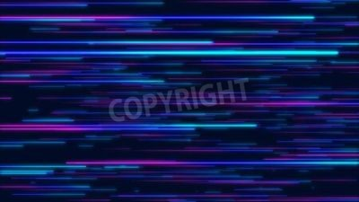 Naklejka Blue and purple abstract radial lines geometric background. Data flow. Explosion star. Optical fiber. Motion effect. Background