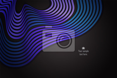 Blue and purple gradient abstract curve and wavy illustration background