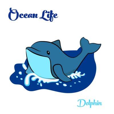 Naklejka Blue Dolphin w oceanie