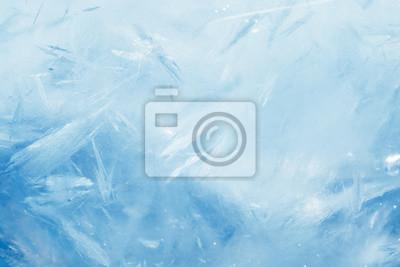 Naklejka blue frozen texture of ice