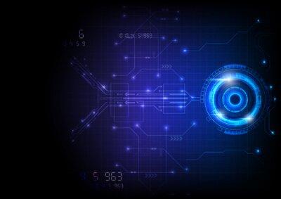 Naklejka Blue Light Futuristic Game Circuit Technology