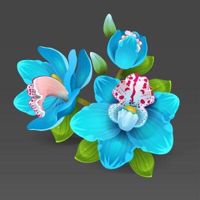 Naklejka blue orchid