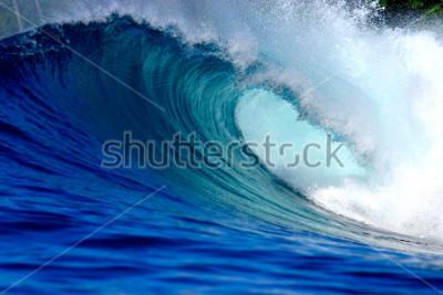 Naklejka Blue surfing wave