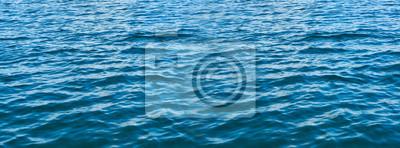 Naklejka Blue water panorama background