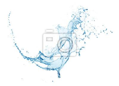 Naklejka blue water splash isolated on white background