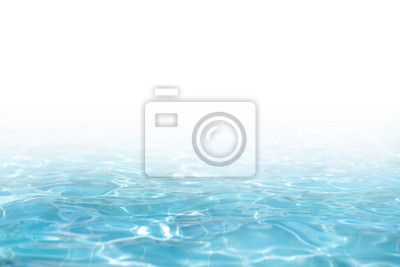 Naklejka Blue Water surface, abstract background with a text field