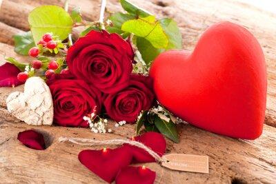 Naklejka Blumen mit schildschen (Walentynki)