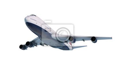 Naklejka Boeing 747 latające w chmurach