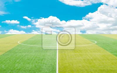 Naklejka Boisko do piłki nożnej i Sztuczna murawa.