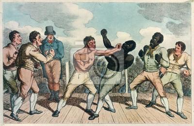Naklejka Boks - Cribb przeciwko Molyneux. Data: wrzesień 1811
