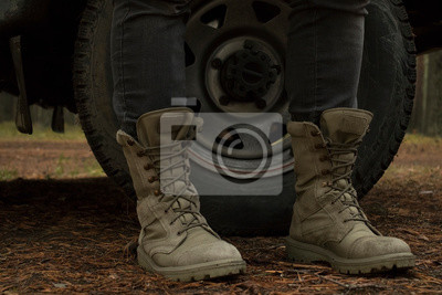 Naklejka boots on the ground