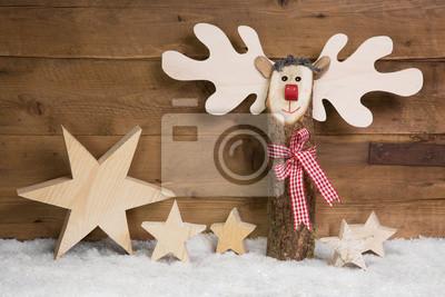 Boże Narodzenie Dekoracje Oczywiście Wykonane Z Drewna Naklejki Redro