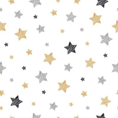Naklejka Boże Narodzenie gwiazdki wzór kulas rysunek biały na białym tle