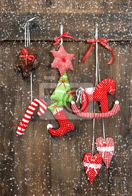 Boże Narodzenie Ręcznie Robione Zabawki Dekoracje Wiszące Naklejki Redro