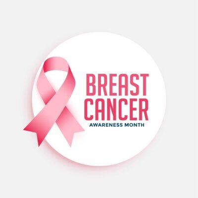 Naklejka breast cancer awareness month campain poster design