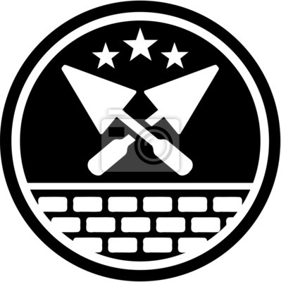 Naklejka Brick Layer Badge