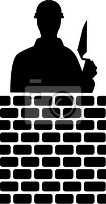 Brick Layer Silhouette