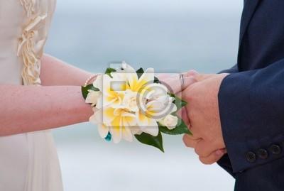 Naklejka Bride oraz oczyszczenie gospodarstwa ręce