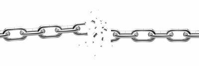 Naklejka Broken chain vector design illustration isolated on white background