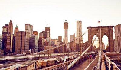 Naklejka Brooklyn Bridge w Nowym Jorku