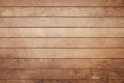 Naklejka Brown painted natural wood with grains for background and texture